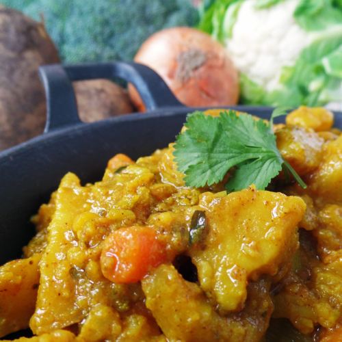 Potato and mixed veg curry